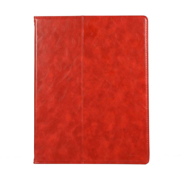 Classic Half Genuine Leather Tablet Case Cover For ipad pro 12.9 With Built-in Pen Slot pu Leather Case