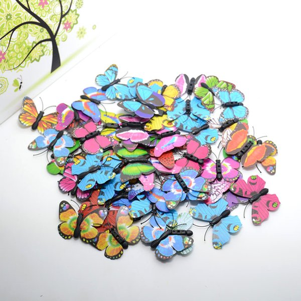 10pcs Plastic Butterfly Handmake Artificial Flowers Head Wedding Decoration Diy Wreath Gift Box Scrapbooking Craft Fake Flowers