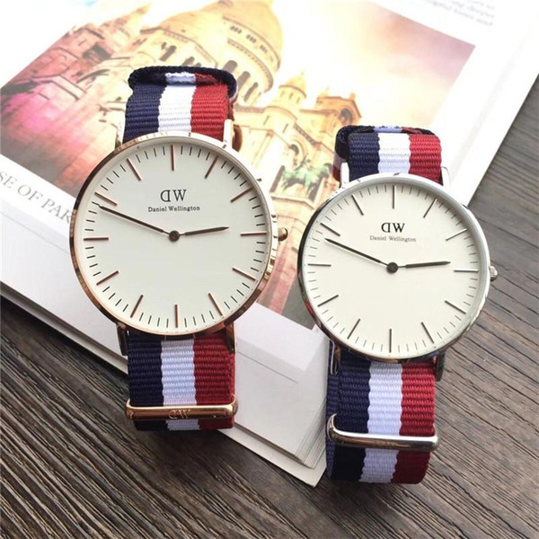 All new best-selling fashion watch Daniel Wellington watches men and women models relojes men 40mm ladies 36mm luxury mens watches quartz