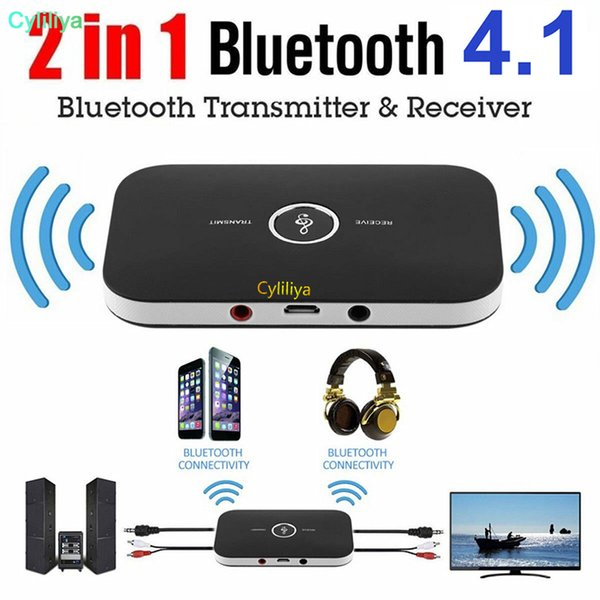 بلوتوث الصوت محول بلوتوث اللاسلكية 4.1 الارسال والاستقبال 2 في 1 من كيت 3.5MM السيارة للسماعات نظام TV / المنزل ستيريو، رئيس
