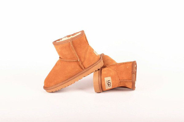 top popular New high quality Kids Shoes Genuine Leather Snow Boots for Toddlers Boots With Bows Children Girls Snow Boots UG5854 2019