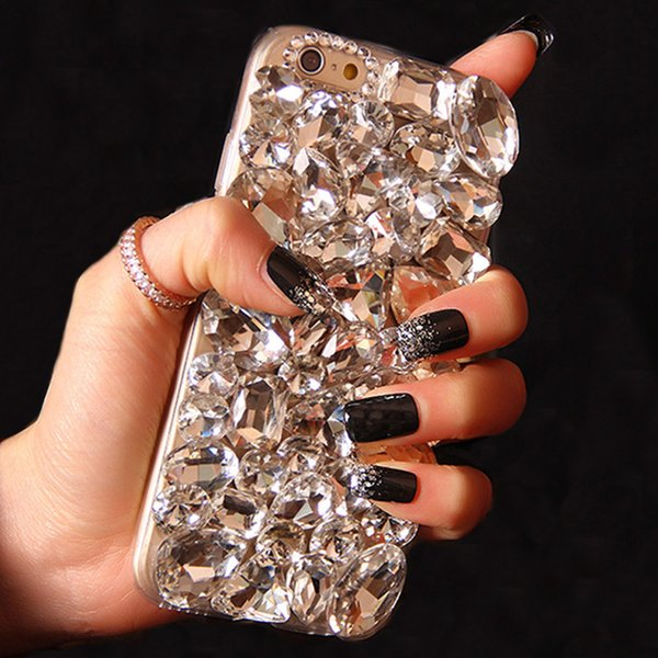 Sunjolly Fox Diamond Case Rhinestone cubierta del teléfono Crystal Bling Coque para Iphone X Xs Max Xr 8/8 Plus 7/7 Plus 6s / 6 Plus 5s Se 5c T190710