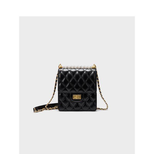 Luxury brad Woman 2019 Pacchetto in vera pelle da donna Pacchetto catena Confezione monospalla Borsa piccola Borsa obliqua perlata