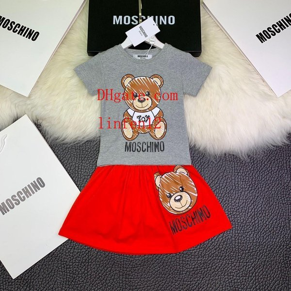 2019 Summer girl children's clothing cartoon pictures baby clothes T-shirt shorts cool fashion male baby pants boy two-piece suit v-t4