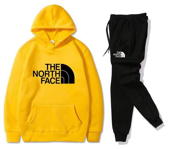 Hooded Men Sportswear Sets Spring Winter 2020 Casual Tracksuit Men Two Piece Suit Hoodies Sweatshirt + Sweatpants Male Sweatsuit S-3XL