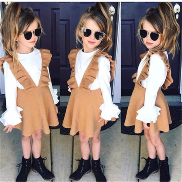 Baby Girls Dress 2018 Newest Newborn Baby Girls Knitting Wool Strap Swing Dresses Hot Sale Dress For Girls Vestidos