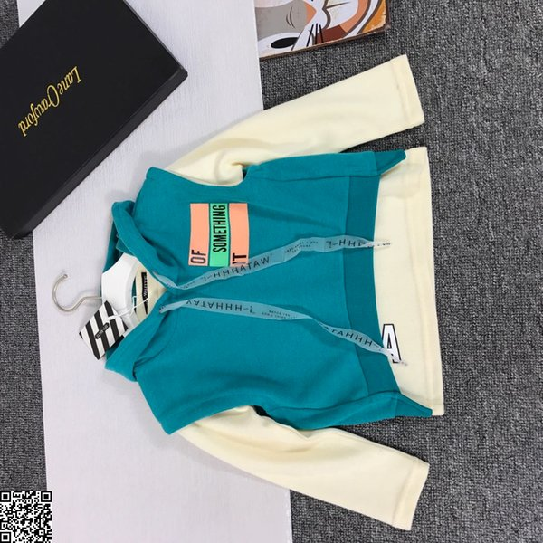 Girl sets vest fashion trend set for boy imported small terry cotton autumn new 2pcs vest + sweater