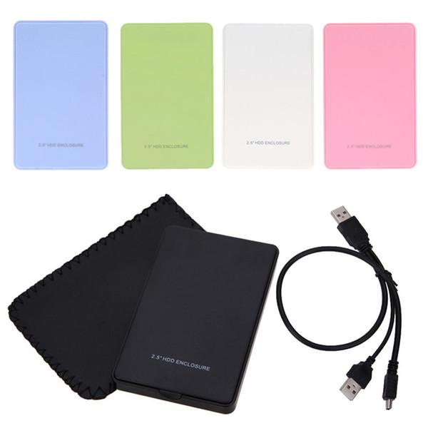 Custodia SSD per custodia per HDD USB 2.0 per unità disco rigido SATA esterna da 2,5 pollici