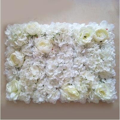 20 unids / lote Leche Artificial Seda blanca rosa y flor de peonía fondo de la boda decoración de la casa camino plomo Decoración para el hogar Envío Gratis