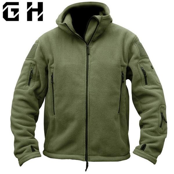 Military Tactical Softshell Fleece Jacket Hooded Winter Men Us Army Polartec Sportswear Clothes Warm Coat Casual Jackets SH190718