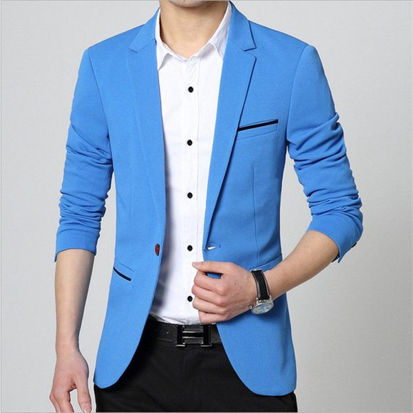 Fashion Custom made Jacket Formal Dress Mens Suit Set men casual wedding suits groom Korean Slim Fit Dress (coat)