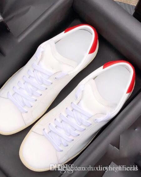 2018 luxury brand sneaker classic couple small white shoes fashion leather outdoor sports wholesale shoes soft le deep mouth