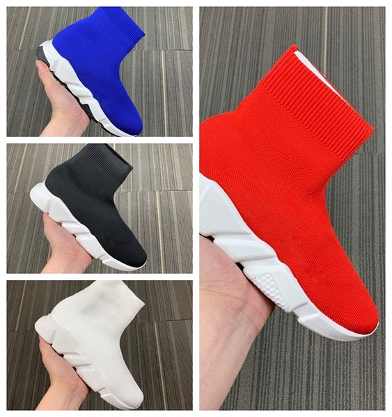 Luxury Sock Shoes Casual Shoe Speed Trainer High Quality Sneakers Speed Trainer Sock Race Runners black Shoes men and women Luxury Shoe M14