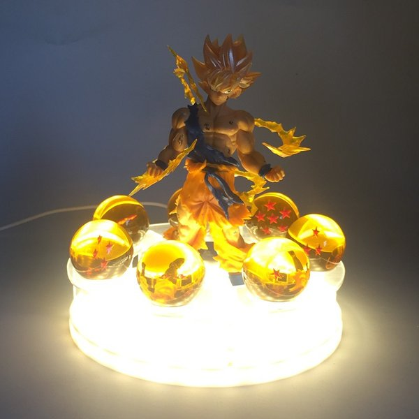 7 Dragon Balls LED Lamp for Children Z Action Anime Figure Goku Son Figurine Collectible Kids Christmas Toys glow in the dark
