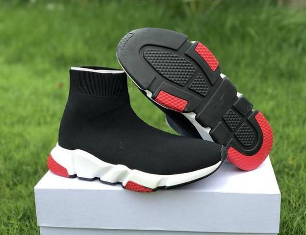 stivali da uomo firmati da donna Nero Bianco Rosso Blu Scarpe Casual Calzino Race Runner Scarpe sportive di lusso 36-45