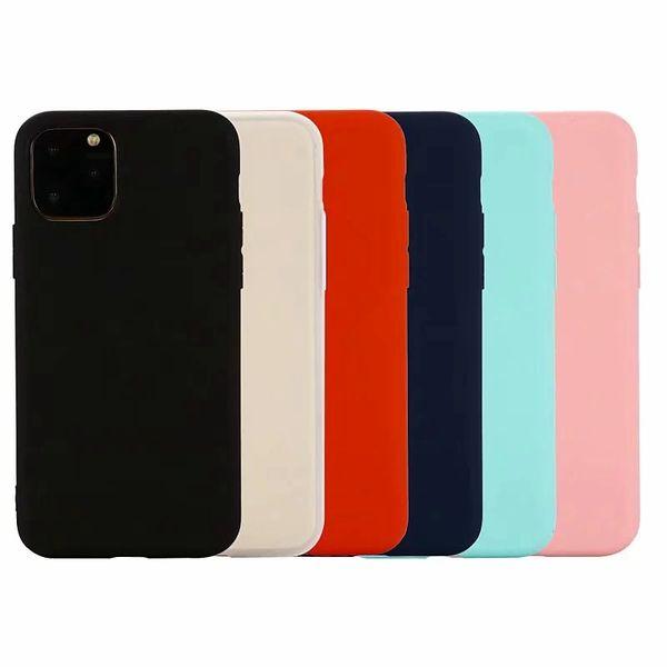 İnce Mat Yumuşak TPU Kılıf Yeni Iphone 11 Pro 2019XR XS MAX X 8 Samsung Not 10 A20E A2 Çekirdek Ultra İnce Düz Ultrathin Lüks Telefon Kapak