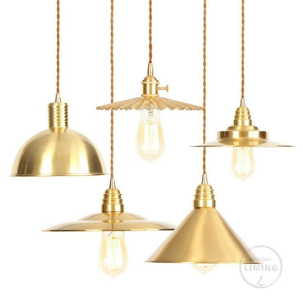 Copper Modern Postmodern Minimalist Metal Mirror E27 Pendant Light Gold Globe Loft Hanglamp Modern Lamp Kitchen Light Fixture Lighting At Home Silver