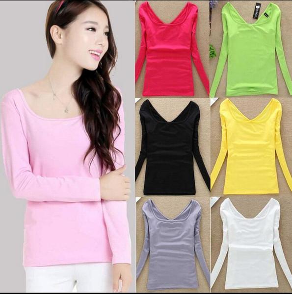 Nouveau col UV chemise à manches longues femmes chemise à talons Slim soie lait sauvage chemise automne vêtements femmes