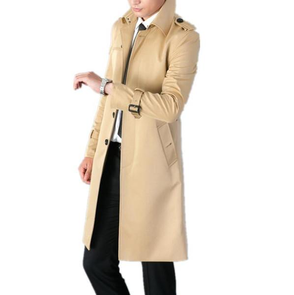 Vêtements Trench Slim Pour Manches Long Hommes Fit Boutonnage Acheter Coat Homme Manteau 2018 Simple Longues Nouveau Printemps Mens Pardessus Designer DH2IE9