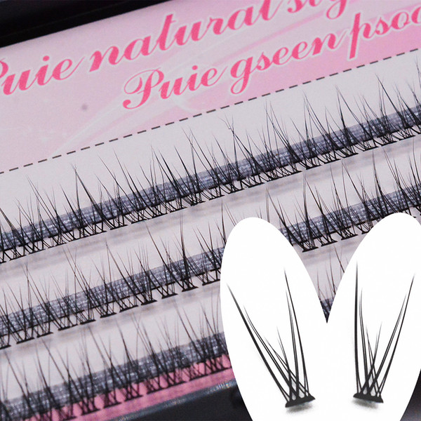 1 Box 8-12mm Natural Long Individual Flare Lashes fishtail Cluster False Eyelashes Handmade Eye Lash Craft Handmade Eyes Makeup