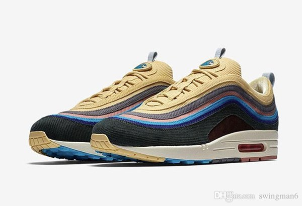 2018 Release 97 Sean Wotherspoon x 1/97 VF SW Hybrid Man WomenRunning Shoes Corduroy Rainbow Authentic Sneakers Sports With OG Box