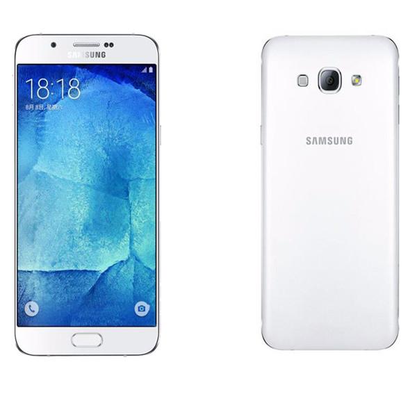 Reacondicionado Desbloqueado Original Samsung Galaxy A8 A8000 Dual Sim Octa Core Rom 32GB 16.0MP 5.7 pulgadas 4G LTE teléfono móvil