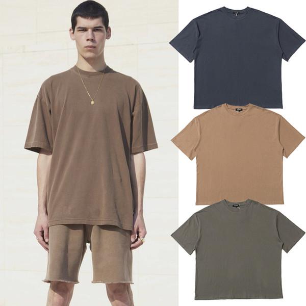 Kanye West Sezon 6 Düz T-shirt Erkek Kadın Hip Hop Streetwear Boy Kısa Kollu Spor Kaykay Tee Tops TNI0411
