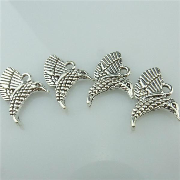 14710 35 UNIDS Aleación de Plata Antigua Animal Ala Del Pájaro Colgante Charm Joyería de Moda Accesorios de Joyería DIY Parte Del Collar