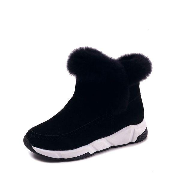 2018 Winter Faux Fur Women Shoes Woman Snow Boots Ankle Warm Platform Wedge Fashion Femme Ladies Boot Black Footwear
