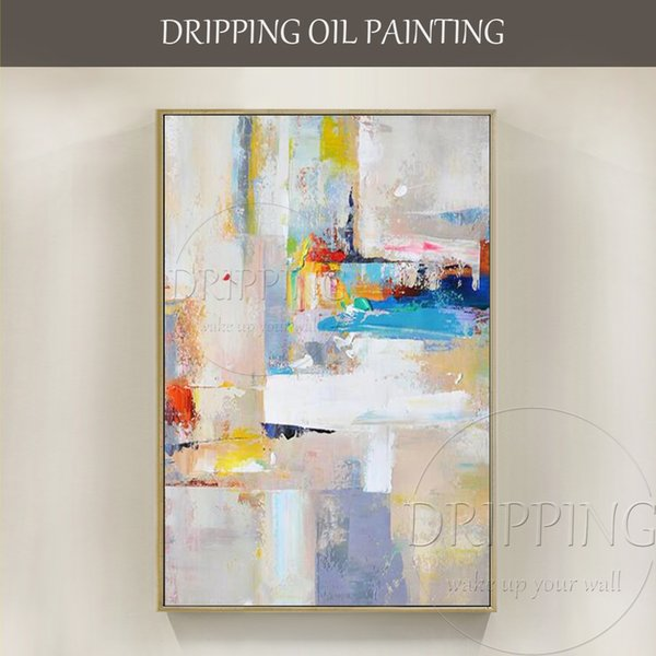 2019 Hot Selling Artist Hand Painted High Quality Abstract On Canvas Handmade Beautiful Light Colors Oil Painting J190707 From Babala1 126 24
