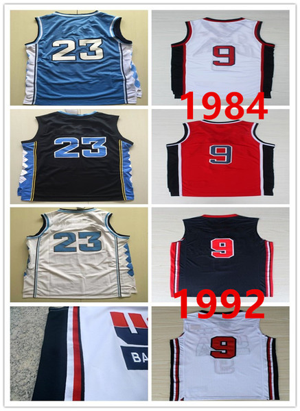 North Carolina MJ-Trikot 1984 Olympisches Spiel 1992 American Dream Team 9 Michael-Trikot-Shirt Voller genähter Vintage S-2XL