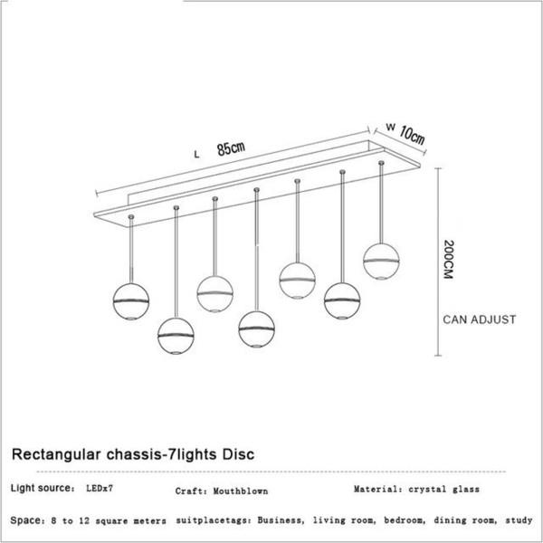 7 Heads Rectangular Base