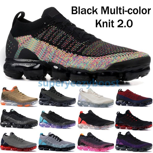 2019 Fly 2.0 Schwarz Multi Color Running Schuhe Herren Damen Cny Safari Racer Blau Designer Sneakers Midnight Purple Ultramarine Trainer