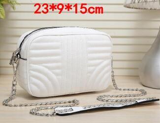 6 couleurs Nouveau mode sacs à main de luxe PU chaîne ceinture sac à bandoulière designer sacs à main sacs à main marque femmes vertical rayure sacs à main et bourse