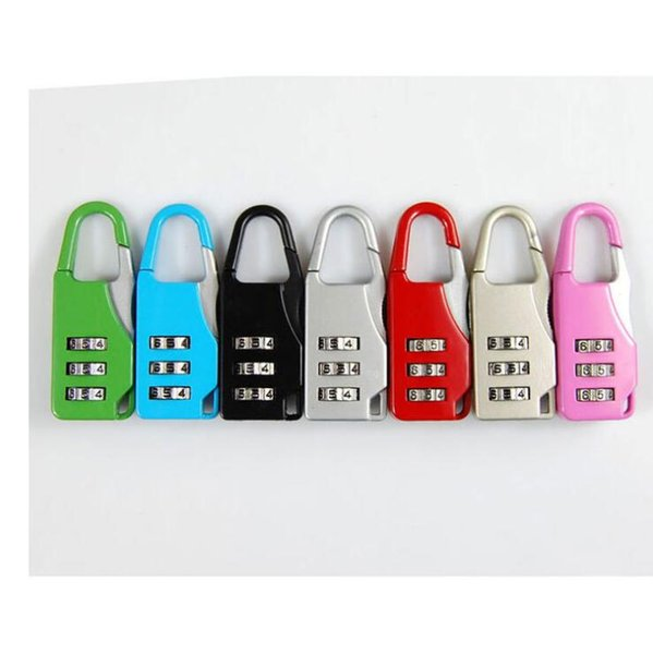 Padlock Tsa Combination 3 Digits Password Digital Luggage Suitcase Number Travel Safety Bag Knapsack Secret Small Lock