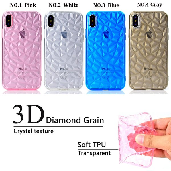 wholesale New design phone case Shockproof Transparent Soft TPU Case 3D diamond For iphone XR XS max x 8 huawei Samsung in stock
