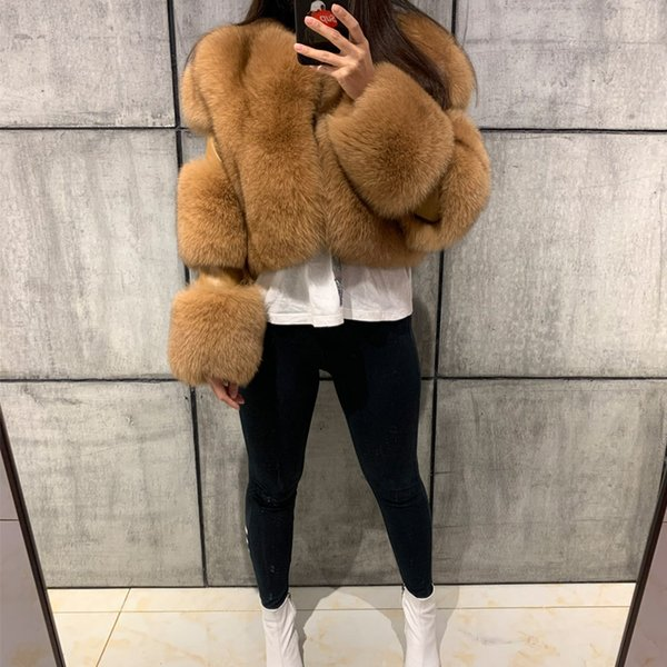 lady fur jacket women real fur jacket natural  outwear