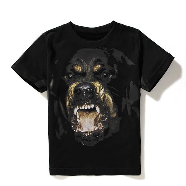 Luxo Mens Designer T Camisas Das Mulheres Dos Homens de Hip Hop Camiseta 3D Impressão Rottweiler Camisa Designer