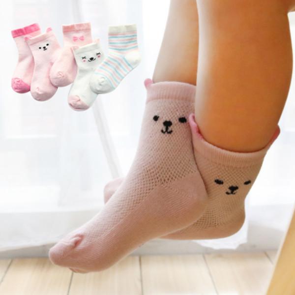 5Pairs/Lot Cartoon Baby Children Socks Summer Children Sock Breathable Cotton Kid Socks For Boys Girls Thin