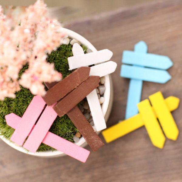 5 * 3 cm de colores de Orientación de la cerca de madera Micro paisaje de la decoración DIY materiales de su jardín Accesorios de escritorio de hadas del jardín de musgo terrario