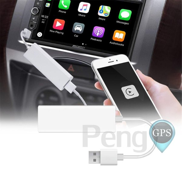 Plug and Play USB CarPlay Dongle for iPhone IOS System Android Phone Car DVD Player Navigation Headunit with Touchscreen Control GPS