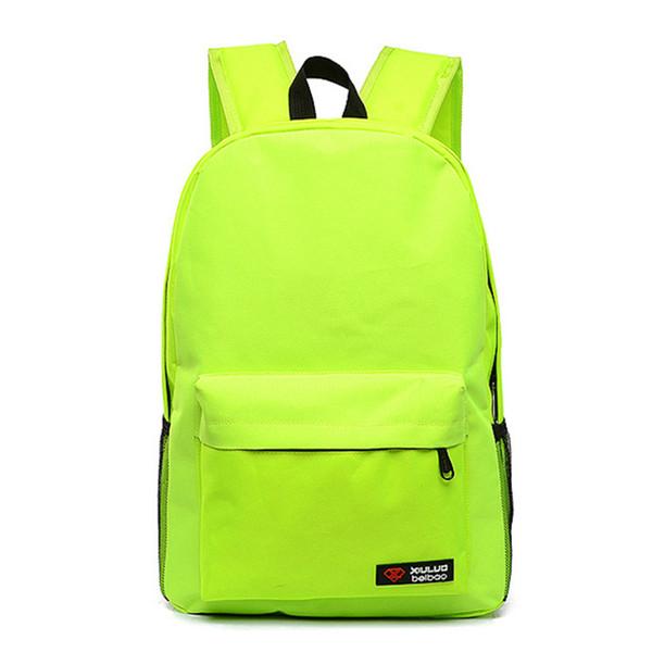 Stylish Candy Color Boys Girls School Bag Women Men Canvas Laptop Ipad Backpack mochila Work Office Travel Daypack Shoulder Bags