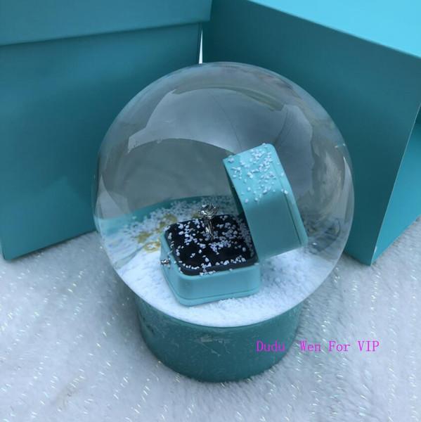 Мода Классический подарок для подруги T sytle роскошный хрустальный глобус с кольцо