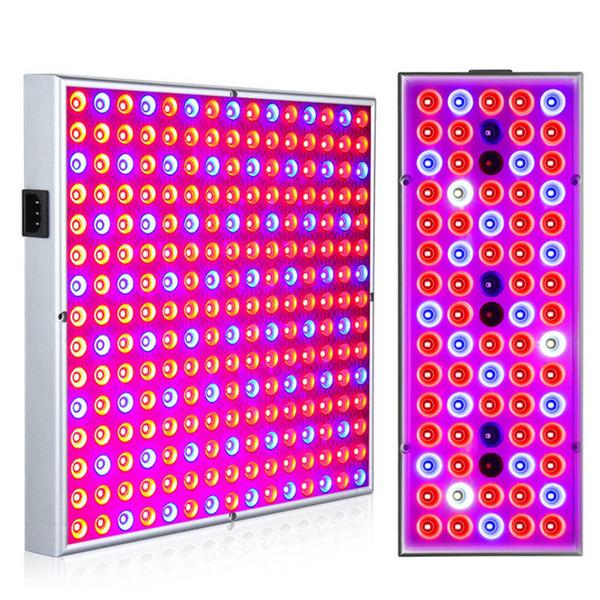 Phyto Lâmpada Indoor Grow Lâmpada Para Planta 380-780nm Full Spectrum LED Crescente Luz 85-265V 75leds 144leds 25W 45W Lâmpadas UV Painel IR
