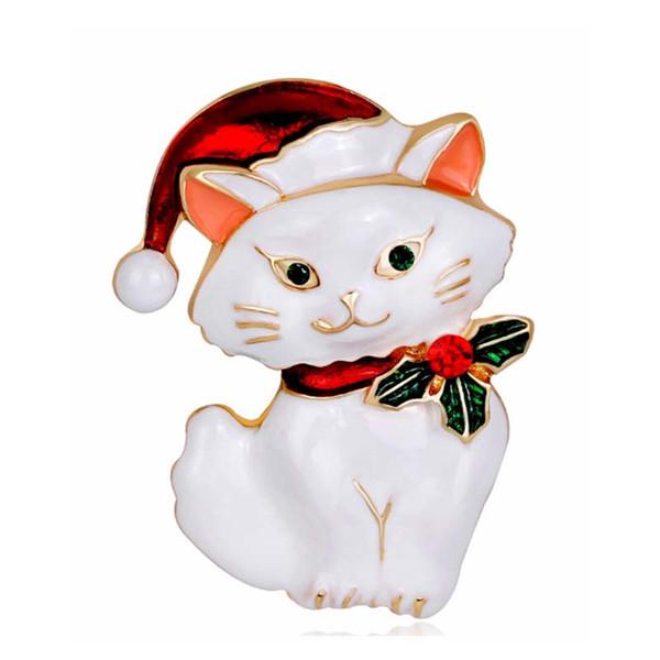 Nette Frauen Cartoon Emaille Tier Sicherheitsnadel Brosche 925 Splitter Ton Gentleman Cat Button Revers Pins Brosche Schmuck