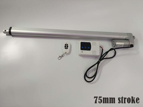 75mm stroke 10mm speed 1000n max force 12v/24v linear actuator with DC 12v inlet wireless controllor