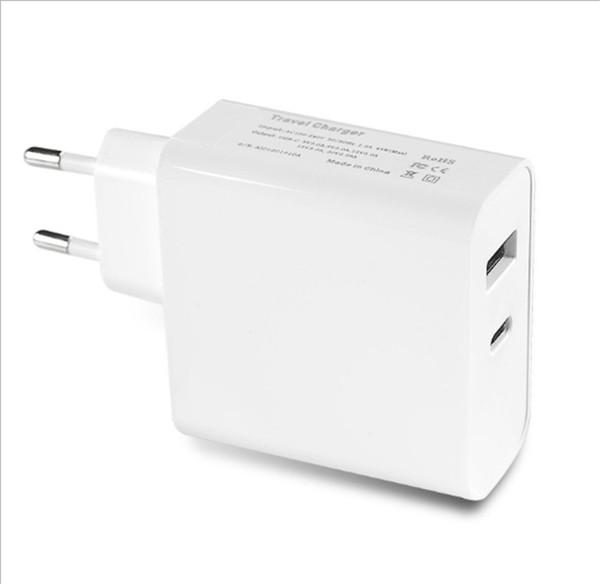 Зарядное устройство на 42 Вт Адаптер питания Type-C Порт Быстрая зарядка Зарядное устройство для мобильного телефона США ЕС Plug Сетевое зарядное устройство для iPhone Samsung