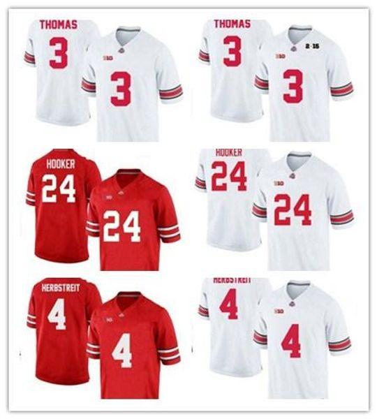 Cheap Custom Ohio State Buckeyes College Football Jerseys 4 Herbstreit 24 Hooker 3 Michael Thomas 25 Weber 75 Pace OSU Red White Black