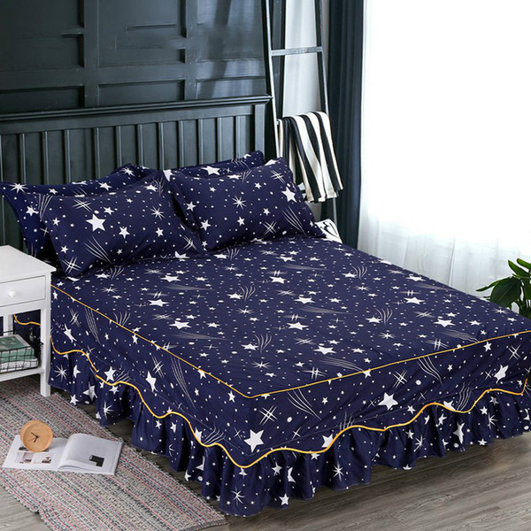 2019 Printed Bed Skirt Floral Bed Mattress Cover Bedding Cover Bedding Supplies Home Textile Bed Skirt Bedsheets