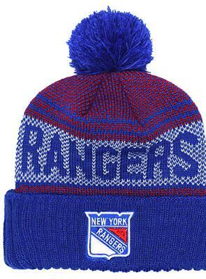 berretto da baseball in cotone a righe Nuova Linea laterale cappello caldo di inverno dei New York Rangers Beanie squadra di hockey donne degli uomini Calotta Pomp Knit